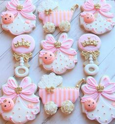 Baby shower girl cupcakes sugar cookies ideas for 2019 Fancy Cookies, Iced Cookies, Cute Cookies, Sugar Cookies, Crown Cookies, Baby Shower Cupcakes For Girls, Girl Cupcakes, Baby Shower Parties, Baby Girl Cookies