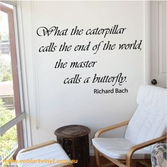 Caterpillar Wall Sticker Quote- Australian made