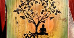 Bodhi Tree Om Upcycled Pallet Art by CryptobioticDesigns