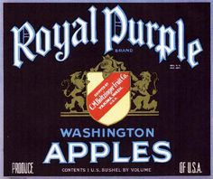 Royal Purple Apples. #crateart