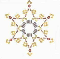 """Работы (Бисероплетение) - Схемы """"Новогодние снежинки из бисера, стекляруса и бусинок"""""""
