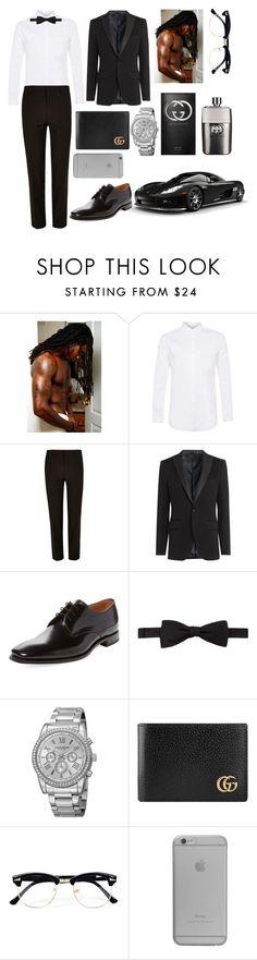 """Bae's Black Tie Ball Outfit"" by kelvionne ❤ liked on Polyvore featuring Topman, River Island, Etro, Loake, Ben Sherman, Akribos XXIV, Gucci, Native Union, men's fashion and menswear"
