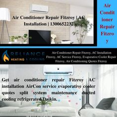 Get air conditioner repair Fitzroy AC installation AirCon service evaporative cooler quotes split system maintenance ducted cooling refrigerated Daikin.