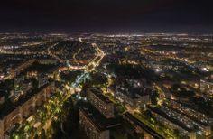 Rondo Powstańcow Śląskich nocą. #Wrocław#Sky#Tower