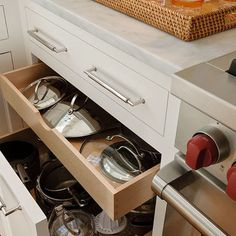 Pull Out Lower Kitchen Drawers