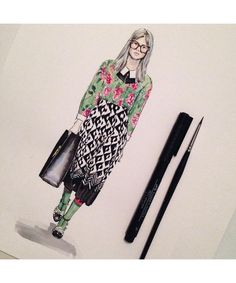 Illustration: See fashion sketches from Instagram's talented fashion illustrators.