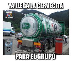Camión de cerveza ya está llegando …