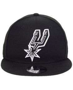 New Era San Antonio Spurs Logo Trace 9FIFTY Snapback Cap - Black Adjustable d77c52f86f84