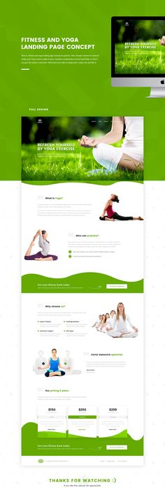 This is a fitness and yoga landing page concept for practice. This concept is based on minimal design and I have tried to make it clean. Created a combination of Green and White so that it can give the visitor a cool feels. Tried some new style in design …