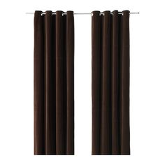 SANELA Curtains, 1 pair IKEA Thick fabric helps to darken the room and reduce sound. Cotton velvet gives depth to the color and is soft to the touch.