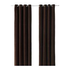 """SANELA Curtains, 1 pair, dark brown - dark brown - 55x98 """" - IKEA"""