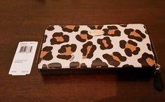 NWT Authentic Coach Ocelet Print Accordion Zip Around Wallet with Coach Gift Box #Coach #AccordianZipAround