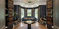 Explore our Dawn Hill, Wentworth Estate project to understand why Ascot Design is a Berkshire based architect with a global reputation for high quality work. Classical Architecture, Architecture Design, Classic Library, Beverly Hills Houses, Spa, Residential Architect, Home Libraries, Surrey, Luxury Homes