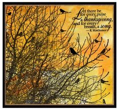 """By Impression Obsession Rubber Stamps using Cover-a-Card stamp """"Birds on Trees"""""""