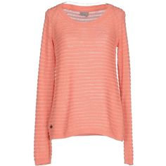 Vero Moda Jumper ($73) ❤ liked on Polyvore featuring tops, sweaters, salmon pink, jumper top, pink top, jumpers sweaters, long sleeve jumper and long sleeve cotton tops