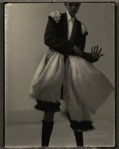 Model wearing Comme Des Garcons shot by Sarah Moon for Figaro Japan