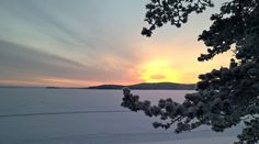 Miekojärvi lake at the Winter time in Pello in Lapland