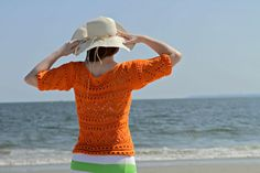 Catalina Beach Sweater by Kristin. Nice #summer #knitting.