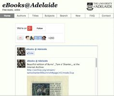 Free ebooks from Adelaide University in Australia. Download and open in iBooks