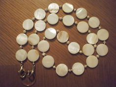 Winter White Shell Coin & Fresh Water Pearl by lkbFineAccessories, $48.00