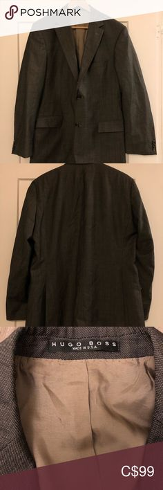 Shop Men's Hugo Boss Gray size Sport Coats & Blazers at a discounted price at Poshmark. Description: Hugo Boss sport coat in grey size US Made in USA. Boss Suits, Hugo Boss Suit, Sport Coats, Plus Fashion, Fashion Tips, Fashion Trends, Blazer Suit, Blazers, Gray Color