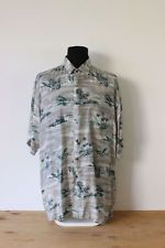 HAWAIIAN SHIRT mens floral tee HIPSTER trendy holiday BRIGHT VINTAGE Festive XXL