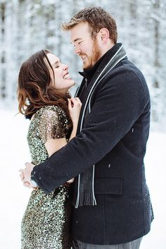 Add Some Shimmer to your Winter Engagement Shoot