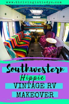 Last year, we bought a 1985 Toyota Coachmen RV and renovated the entire interior! Check out this post for our complete DIY southwestern hippie rv makeover. We turned this vintage camper from drab to bohemian fab! Let me know what you think! Travel Hack, Budget Travel, Time Travel, Travel Tips, Rv Living, Frugal Living, Outdoor Living, Bus Life, Camper Life