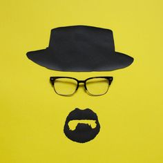 Iconic Eyewear Paper Illustrations - David Scwen Does a Great Social Media Campaign for Warby Parker (GALLERY)