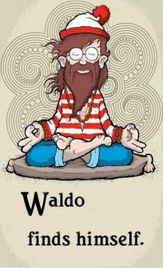 Meditation Cartoon Fun: Waldo finds himself (yoga fun, humour & laughter) .