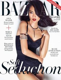 Harper's Bazaar Singapore July 2015 Ayu Gani. She is the 1st winner of Asia's next top model from Indonesia