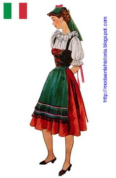 1000 images about traje tipico italia on pinterest for Pasta tipica italiana