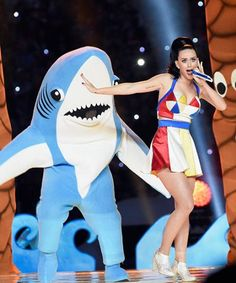 HEY THERE HOTTIE! Katy Perry's shark suit backup dancer is magnificent in real-life