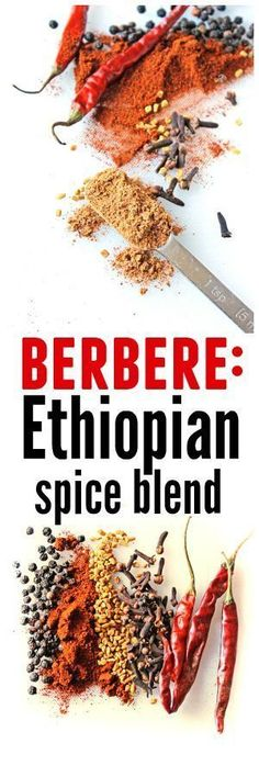 "Homemade berbere recipe! Berbere, which means ""hot"" in Amharic, is an Ethiopian spice blend very common to Ethiopian cooking. Use it for doro wot, misir wot, or as a chile powder in your favorite dish! // Rhubarbarians"