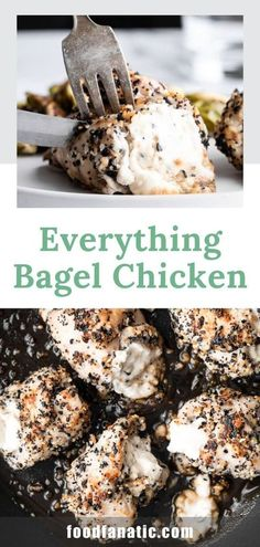 This Everything Bagel Chicken is going to become a new family favorite! Learn how to cook this classic breakfast and season it perfectly. Quick Dinner Recipes, Breakfast Recipes, Recipe Using Chicken Breasts, Cooking Recipes, Snack Recipes, Snacks, Food Dishes, Main Dishes, How To Cook Potatoes