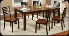 dark two tone harvest table and chairs - Google Search