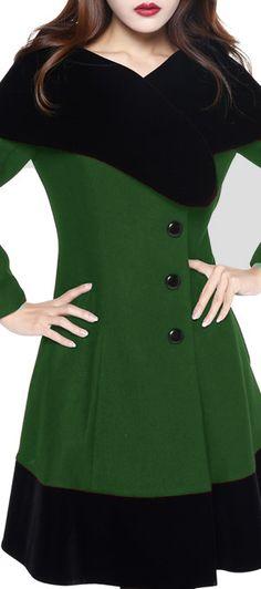 Retro Velvet Collar Coat by Amber Middaugh Standard Size $79.95 Plus Size$95.95