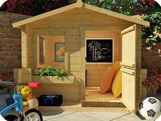 Детский деревянный домик Сказка, купить детский игровой домик.