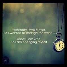 I am changing myself