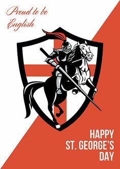 Buy English Knight Riding Horse England Flag Retro by patrimonio on GraphicRiver. Illustration of knight in full armor riding a horse armed with lance and England English flag in background done in r. Conquistador, Happy St George's Day, English Knights, St George's Cross, St Georges Day, Medieval Knight, Saint George, Retro Art, Horses