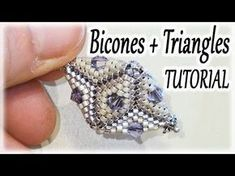 Peyote stitch Triangles and Bicones ~ Seed Bead Tutorials