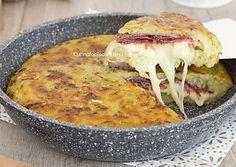 Torta di patate e zucchine in padella velocissima e senza uova