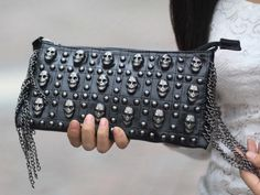 New Girl's Black PU Leather Handbag Skull Accessories Clutch Shoulder Bags BP815   eBay