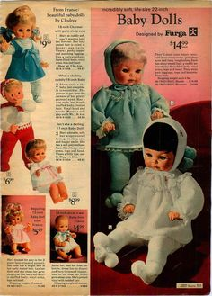 "Aww... Christmas 1970. I received my ""LISA"", the brunette babe in the white knit suit. Furga made some gorgeous dolls."