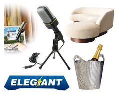 """""""ELEGIANT SF-920 Multimedia Studio Wired Handsfree Condenser Microphone with Tripod Stand for PC Laptop Win7"""" by minminfashion ❤ liked on Polyvore featuring interior, interiors, interior design, home, home decor, interior decorating and Dot & Bo"""