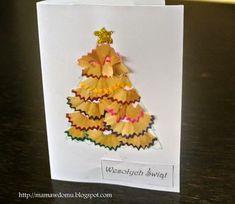Ręcznie robione kartki świąteczne | Mama w domu Christmas Diy, Christmas Cards, Merry Christmas, Xmas, Quilling, Diy And Crafts, Techno, Scrapbook, Fruit