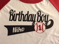 Baseball Birthday Shirts Birthday shirt for entire family, Personalized, Customized This listing is for ONE shirt