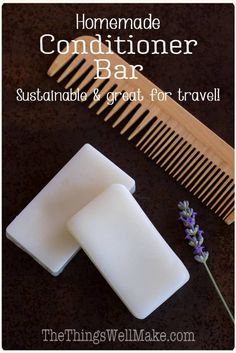 DIY Conditioner Bar Sustainable and travel-friendly, a conditioner bar is a convenient way to keep your hair healthy, conditioned, and tangle-free. Learn how and why to make your own conditioner bar. How To Make Conditioner, How To Make Shampoo, Homemade Conditioner, Diy Shampoo, Homemade Shampoo, Shampoo Bar, Natural Hair Conditioner, Diy Cosmetic, Diy Hair Care