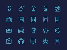 Outline Electronics Icons