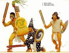 Historical Armies Illustrated - The Aztec Empire & Contemporaries Aztec Clothing, Warrior Clothing, Warrior Priest, Aztec Empire, Mexican Army, Ancient Aztecs, Aztec Culture, Inka, Aztec Warrior